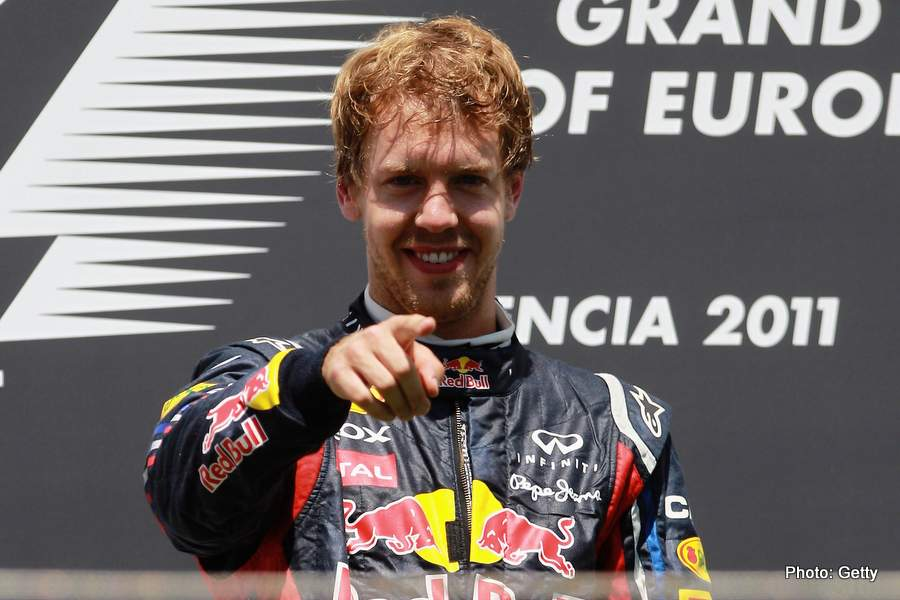 vettel f1 driver with red bull