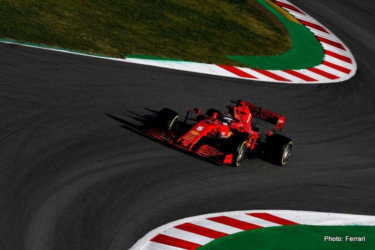 Sebastian Vettel, Ferrari 2020 Test 1 Day 2