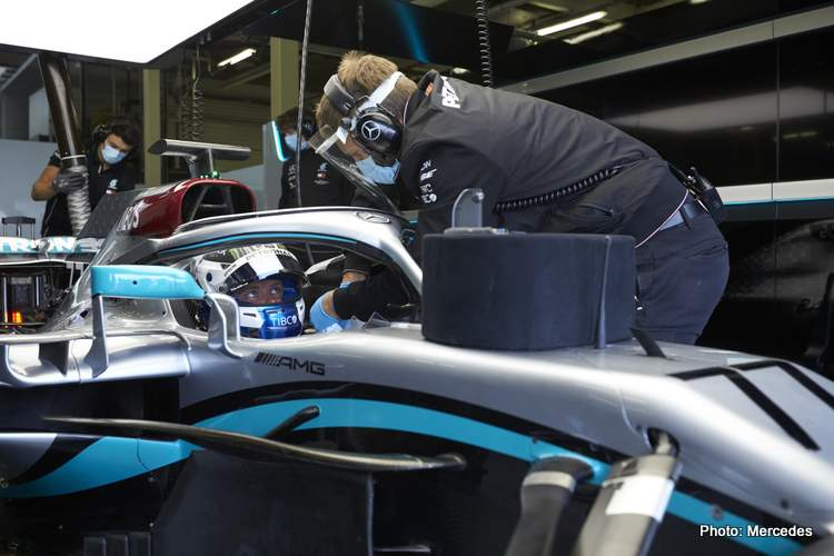 Mercedes face shield