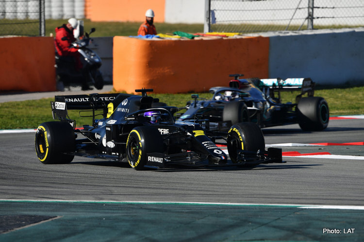 Renault and Mercedes, 2020 Test 1