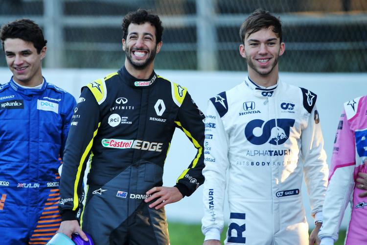 Lando Norris, Daniel Ricciardo, Pierre Gasly