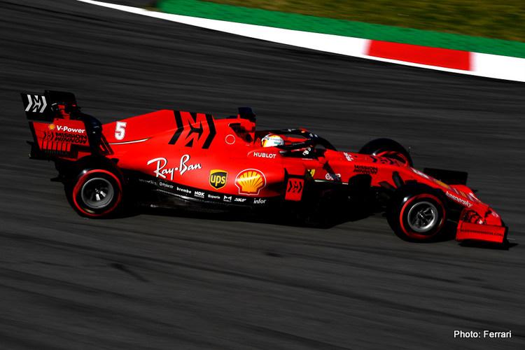 Sebastian Vettel Ferrari 2020 Test 2 Day 2