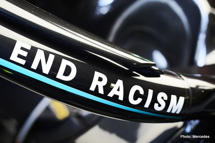 Mercedes end racism decal