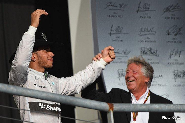 Lewis Hamilton & Mario Andretti