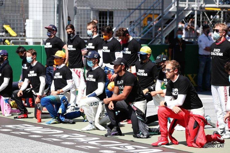 End Racism display, 2020 Austrian GP