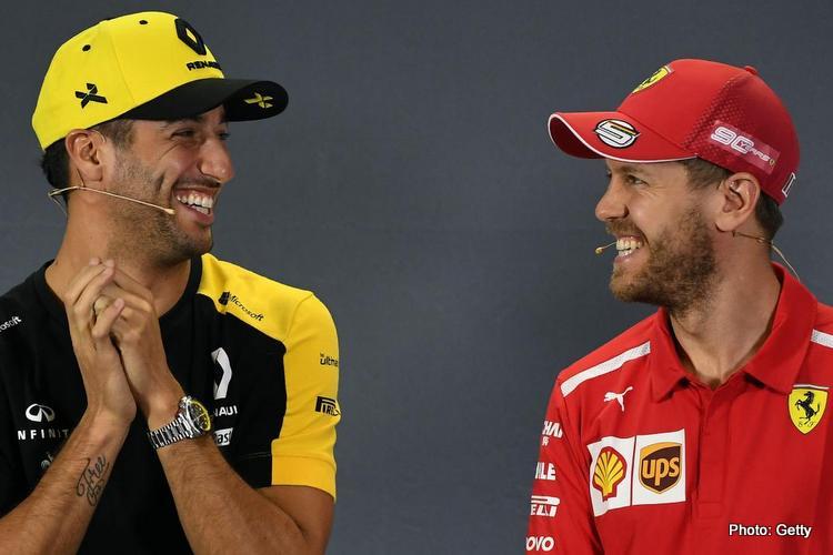Daniel Ricciardo & Sebastian Vettel