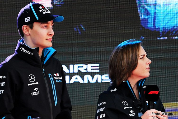 George Russell & Claire Williams