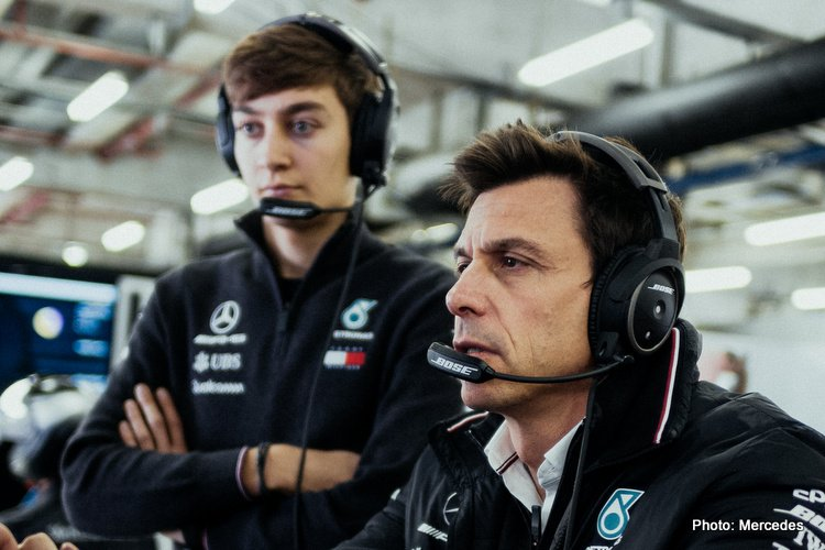 George Russell & Toto Wolff