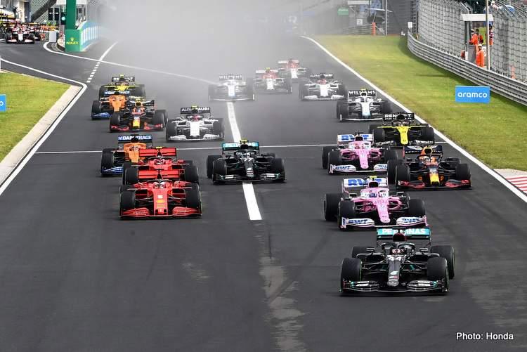2020 Hungarian Grand Prix Start