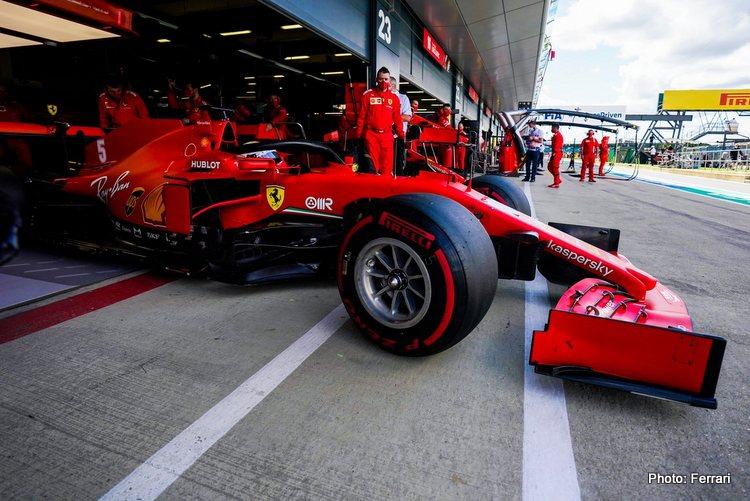 Vettel Silverstone Great Britiain British Grand Prix Ferrari SF1000 2020