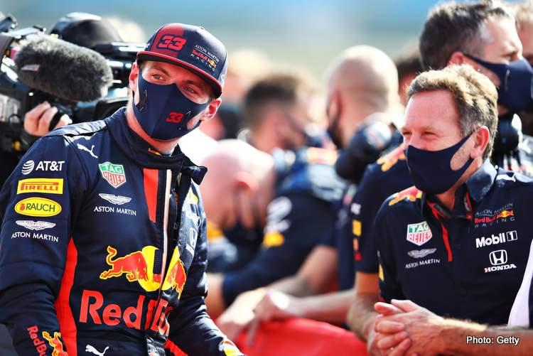horner verstappen F1 70th Anniversary Grand Prix