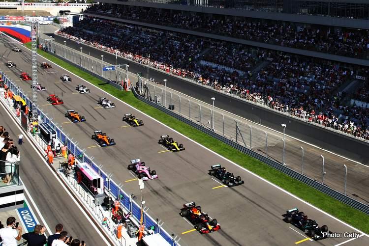 F1 Russia GP start