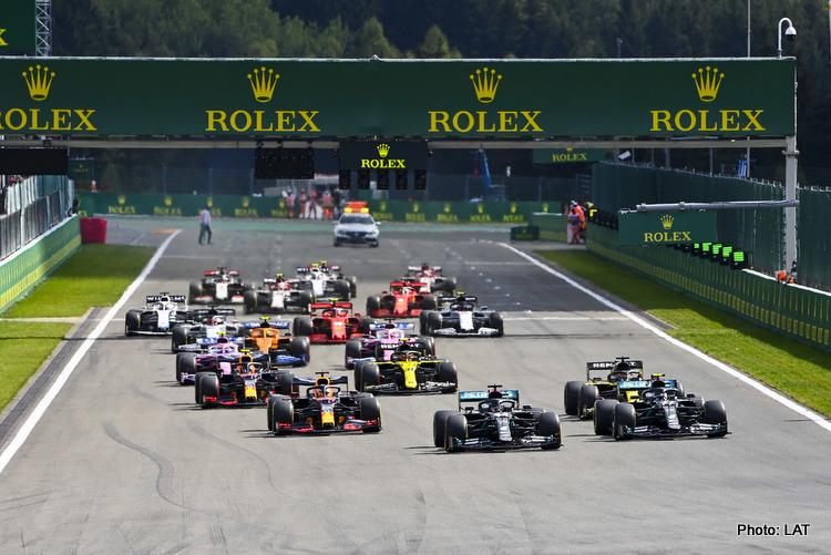 2020 Belgian Grand Prix start