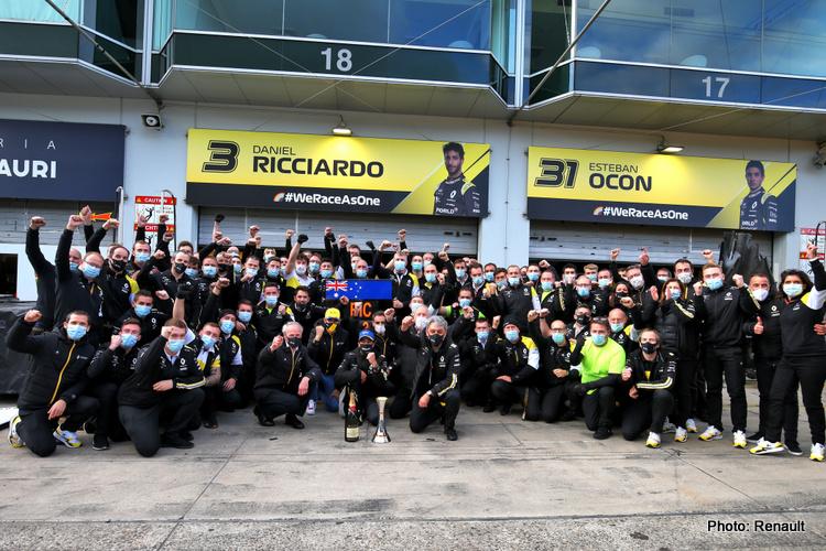 Renault podium celebrations