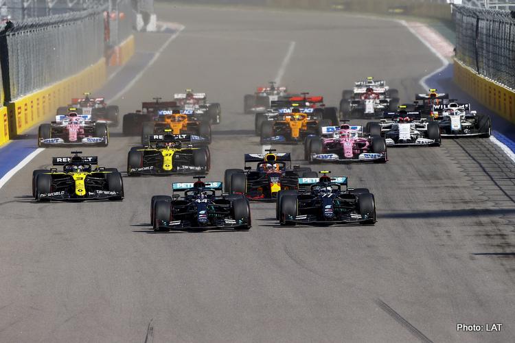 2020 Russian GP start