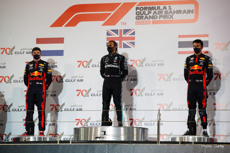 2020 Bahrain GP podium