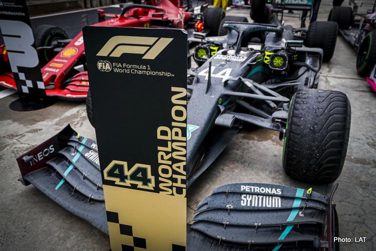 Lewis Hamilton's Mercedes in parc ferme