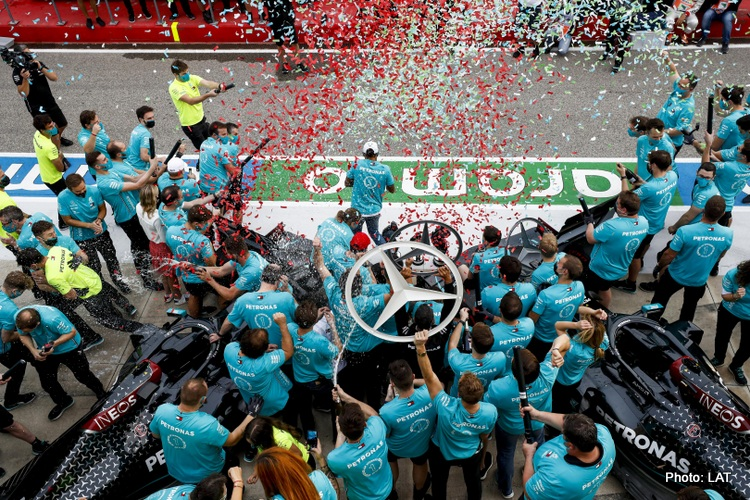 Mercedes, 7th constructor's title celebrations