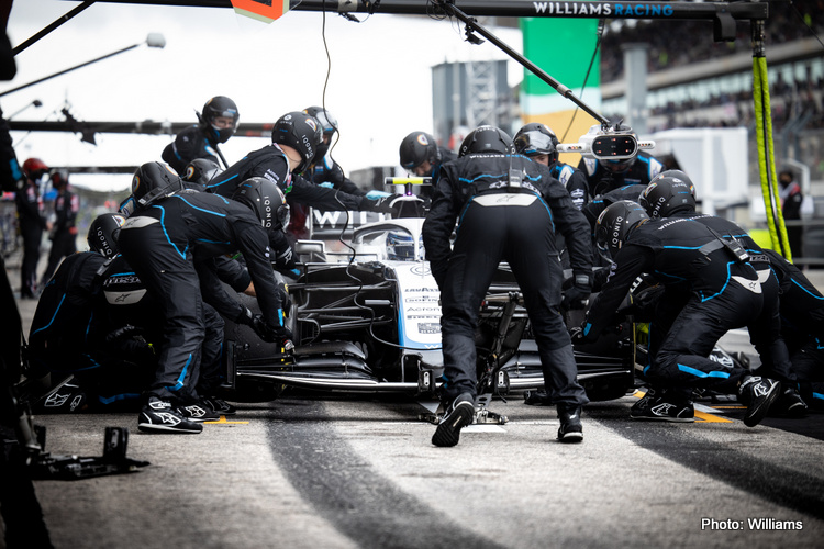 Williams pit stop