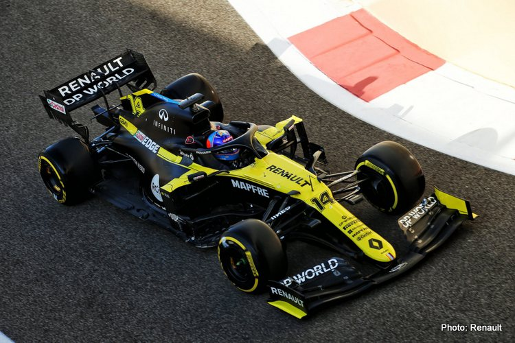 Fernando Alonso, 2020 Young Driver Test