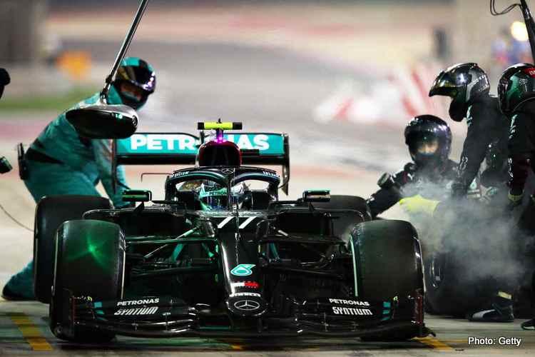 Valtteri Bottas pit stop, 2020 Sakhir Grand Prix