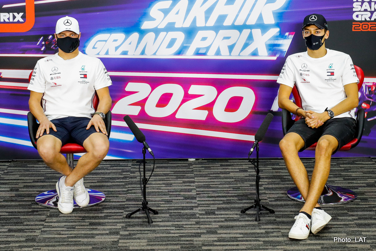 Valtteri Bottas, George Russell, 2020 Sakhir Grand Prix