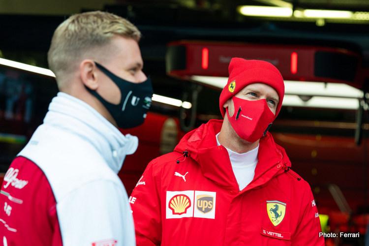 Mick Schumacher & Sebastian Vettel, 2020 Eifel GP