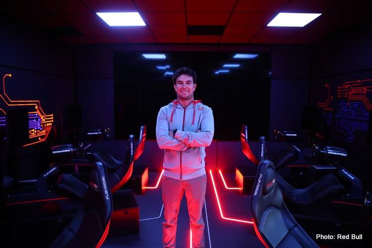 Sergio Perez Visits Red Bull Racing Factory