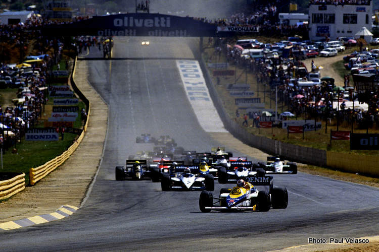 scheckter south african grand prix mansell leads senna pv