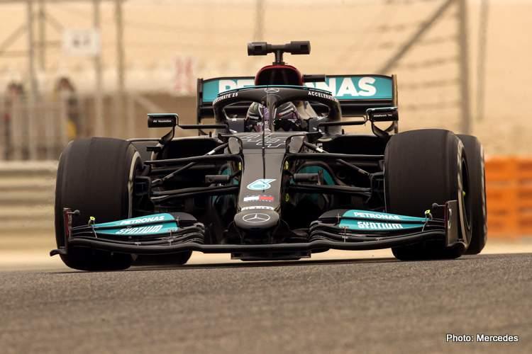 Lewis Hamilton Formula 1 Bahrain 2021 testing
