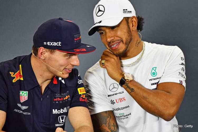 Hamilton-Verstappen happy