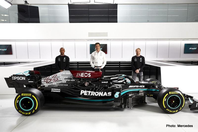 hamilton Mercedes-AMG F1 W12 E Performance Launch