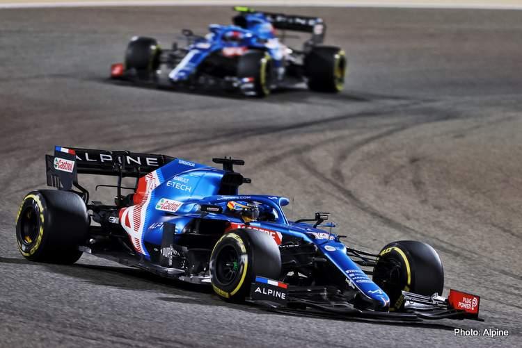 alpine alonso 2021 bahrain grand prix