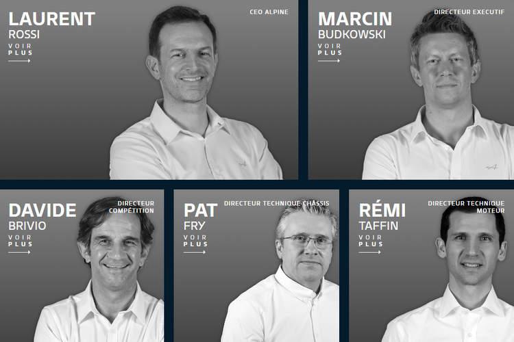alpine F1 team management structure