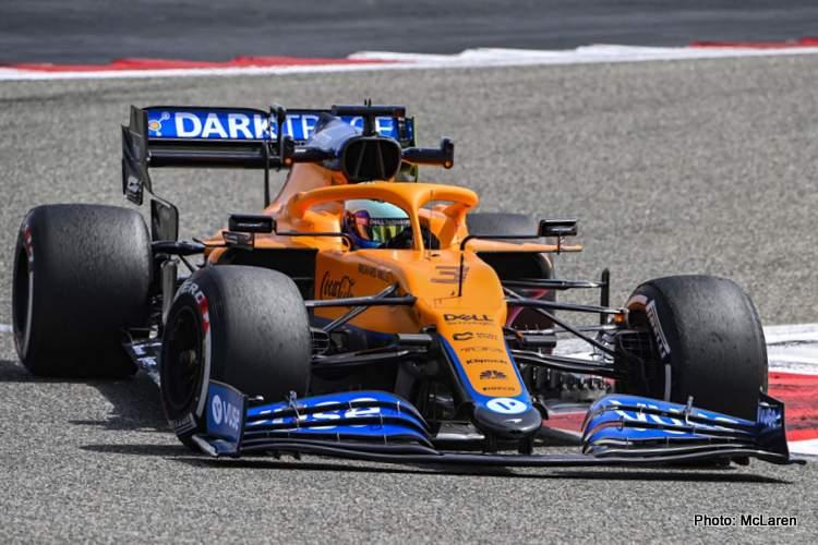 daniel ricciardo testing McLaren