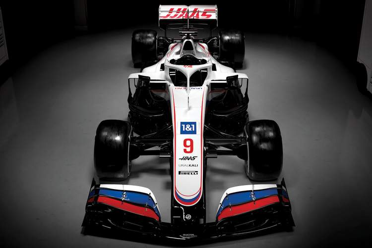 haas VF21 front