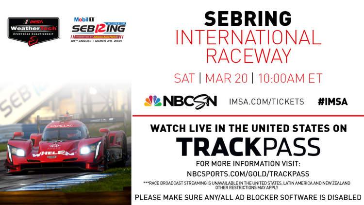 Sebring 12 Hours Live TV 2021