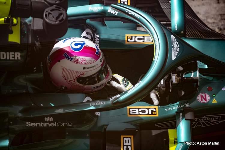 sebastian vettel aston martin Bahrain F1 testing