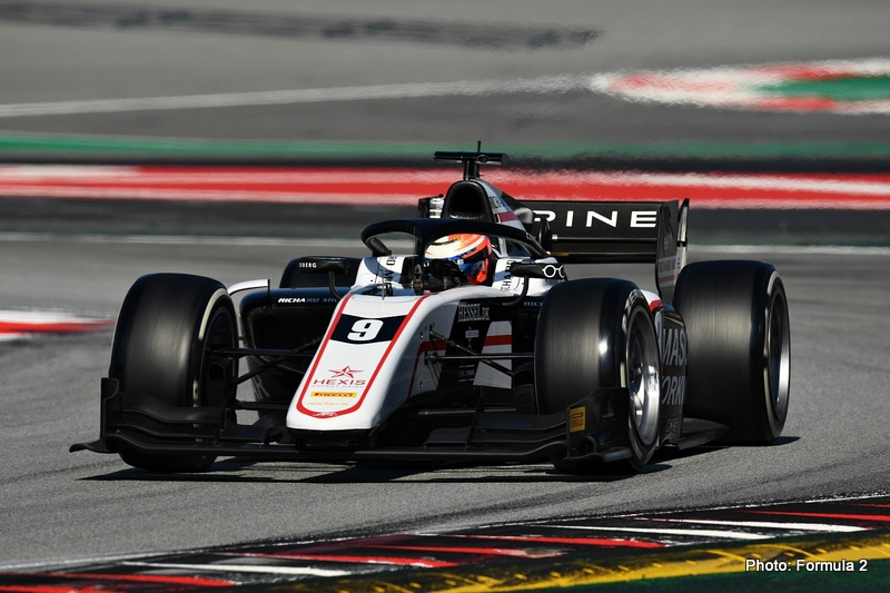 BARCELONA, SPAIN - APRIL 23: Christian Lundgaard of Denmark and ART Grand Prix (9) drives during Day One of Formula 2 Testing at Circuit de Barcelona-Catalunya on April 23, 2021 in Barcelona, Spain. (Photo by David Ramos - Formula 1/Formula Motorsport Limited via Getty Images)