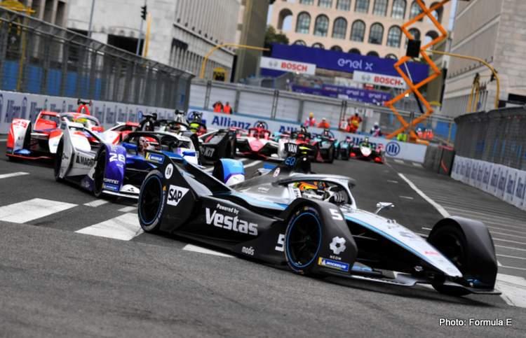Rome ePrix vandoorne leads