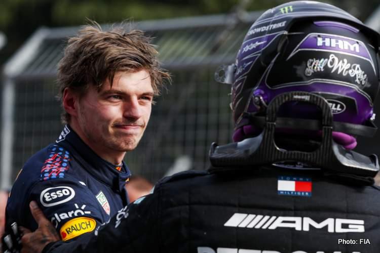 Verstappen versus Hamilton imola red bull mercedes race