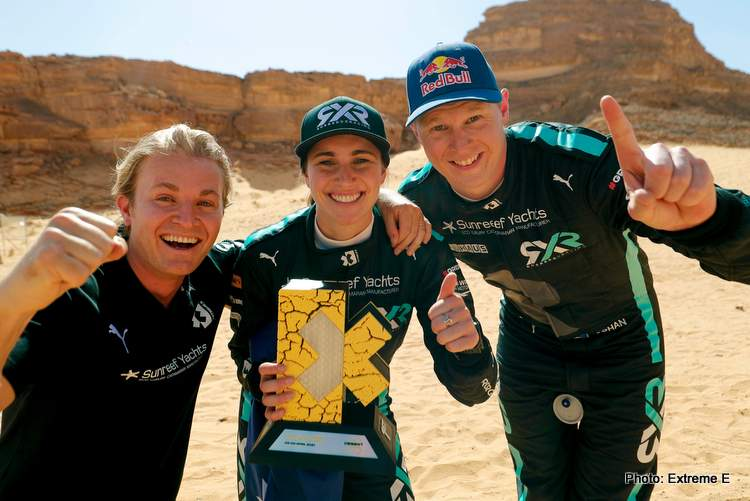 Rosberg X Racing winner extreme e Johan Kristoffersson Molly Taylor