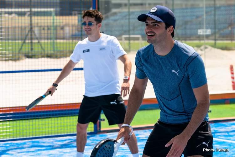 sainz leclerc tennis friends