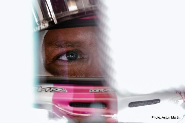 Vettel under fire cockpit helmet