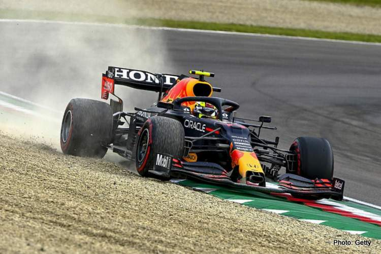 sergio perez red bull imola spin Horner says no problem