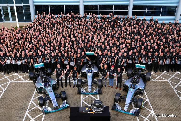Mercedes led by Toto Wolff factory brackley