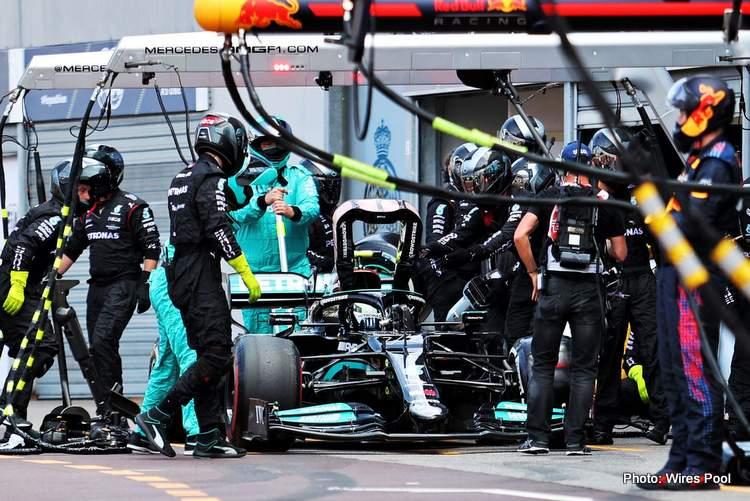 Mercedes Bottas Monaco Grand Prixpitstop
