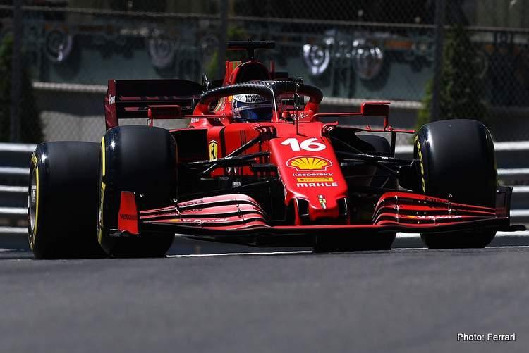 charles Leclerc fastest in FP2 Monaco Ferrari