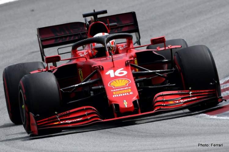 charles leclerc and Mattia Binotto say 2021 Ferrari better than 2020