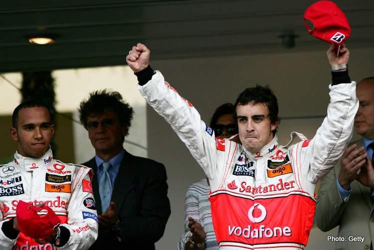 fernando alonso mclaren hamilton Monaco podium 2007